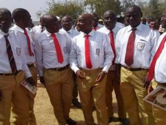 Dr. Oyedepo (C) with some schoolmates at Government Secondary School, Omu-Aran, Kwara State
