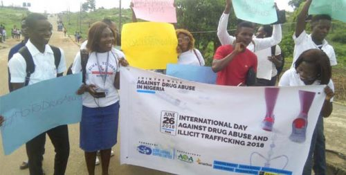 AAUA Students on Rally Against Drug Abuse