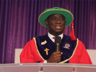 Dr. Tope Fasoranti, Executive Director, Zenith Bnak Plc, delivering the 13th Convocation Lecture at Covenant University