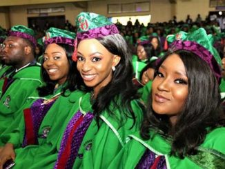 Cross-section of CU Graduands at the 13th Convocation Ceremony of the University