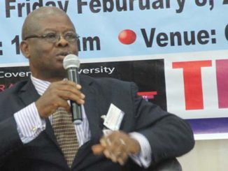 Professor Francis Iyoha at the Workshop and Roundtable Discussion