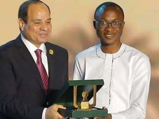 Prince Adekola receiving the Award from the Egyptian President, H. E. AbdelFattah El-Sisi