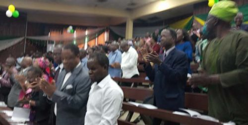 Standing ovation by the audience