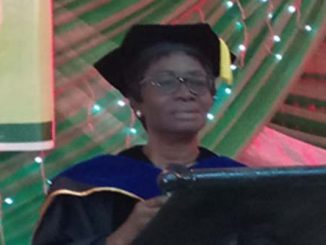 Dr. Itegboje delivering the Lecture