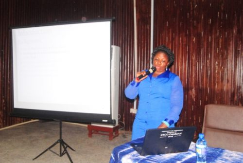Director, UNESCO-UNEVOC Centre, Dr. Ifeoma Akeredolu during the lecture