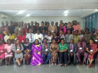 Group photograph at the end of the work ethics, etiquette and leadership training.
