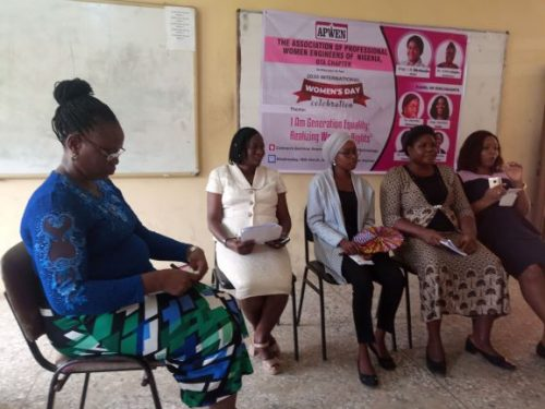 L-R: Moderator and the Panelists, Dr. Alagbe, Dr. Ofuyatan, Engr. Sodik, Dr. Joseph and Engr. Oshin
